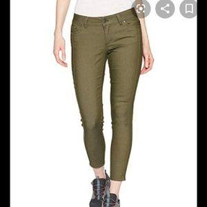 Prana Carlotta Green Skinny Cropped Jeans